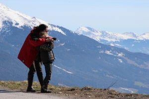In den Bergen mit Leica Fernglas